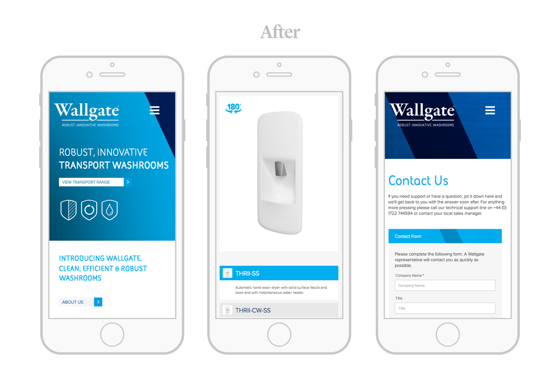 wallgate responsive web design